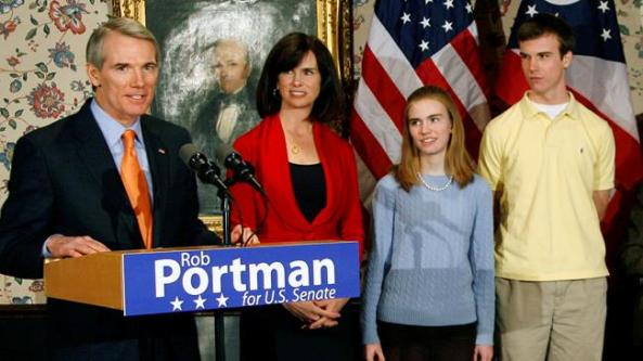 Senator Portman with his own sort of coming out.