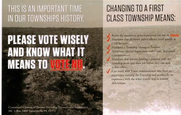 Concerned Citizens of Pocono Township Propaganda
